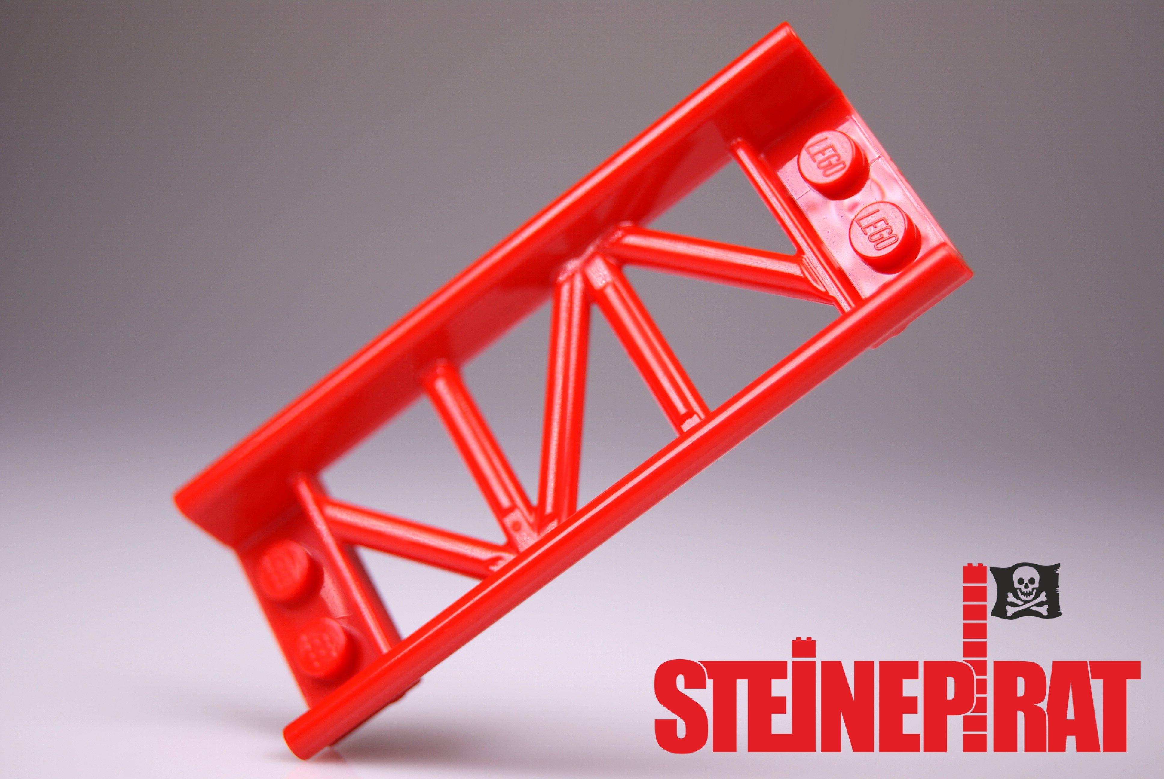LEGO Achterbahn Schiene Roller Coaster Track Curve 25061 6229115 Kurve ROT