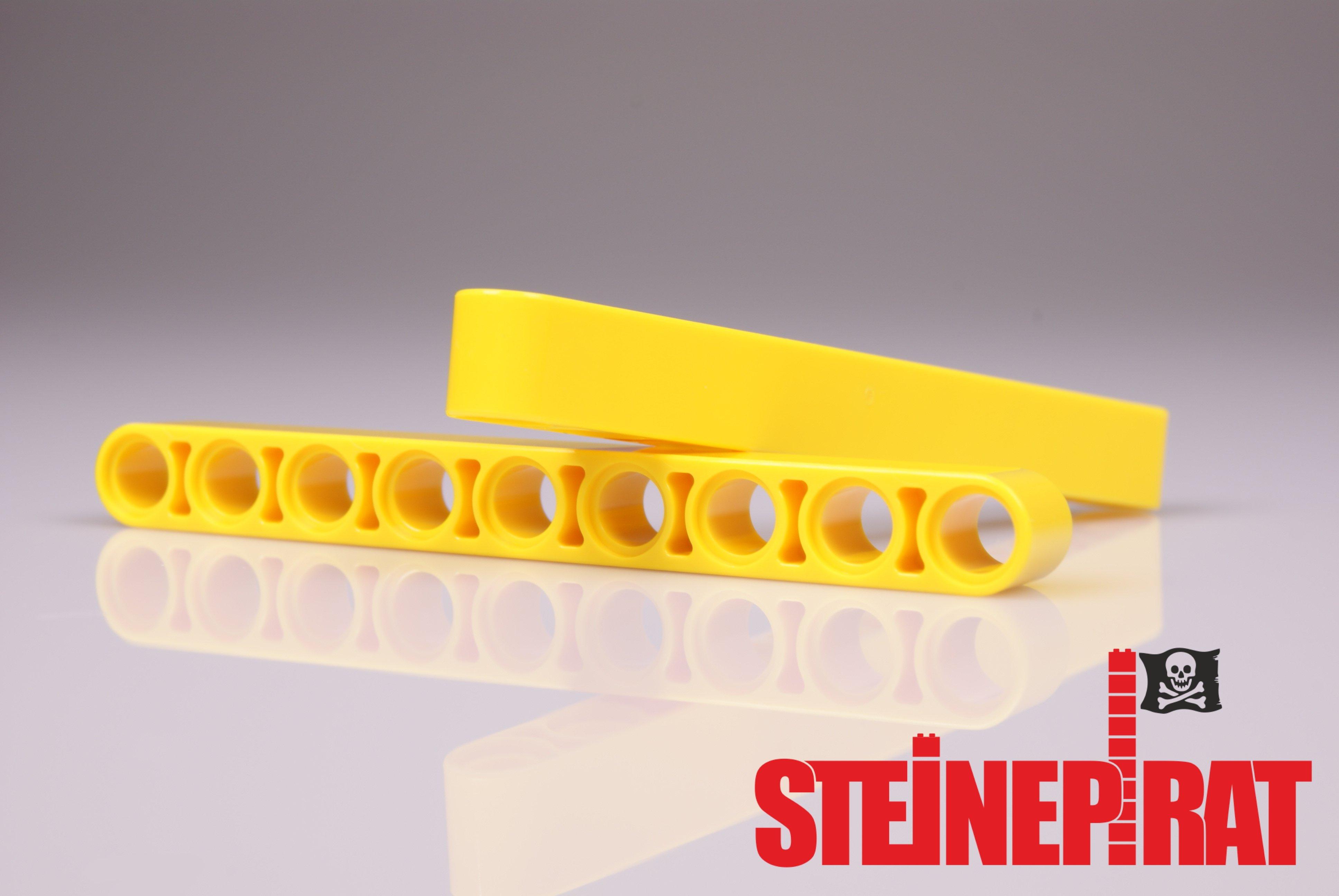 10x Lego Technic Liftarme 1x9 gelb 40490 Technik