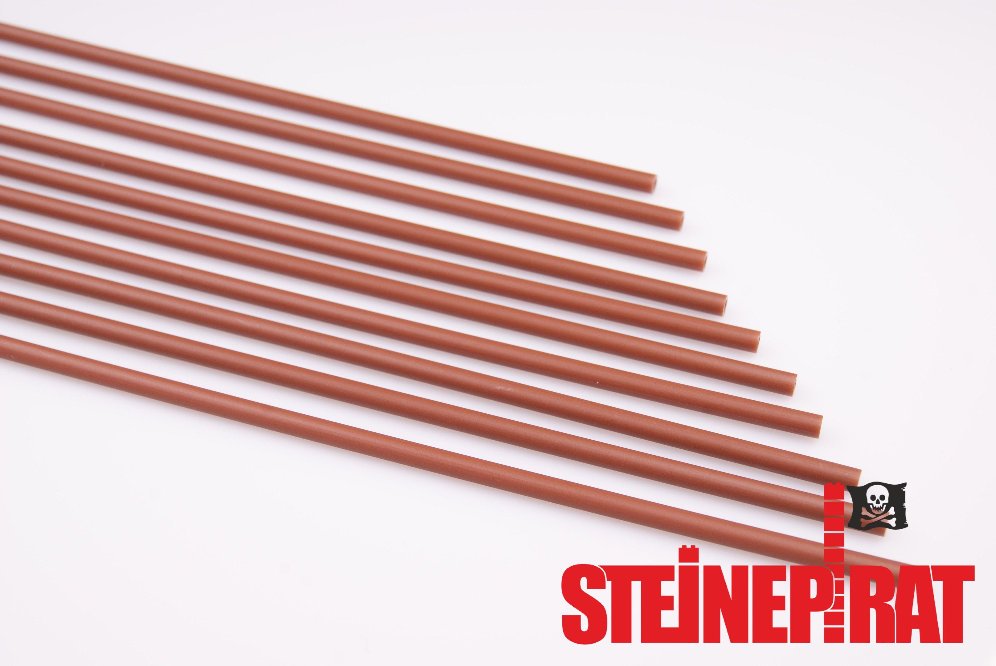 hose Technic LEGO 10 x 75c26 ***NEU*** Flex Schlauch 26 lang 20,8cm rotbraun