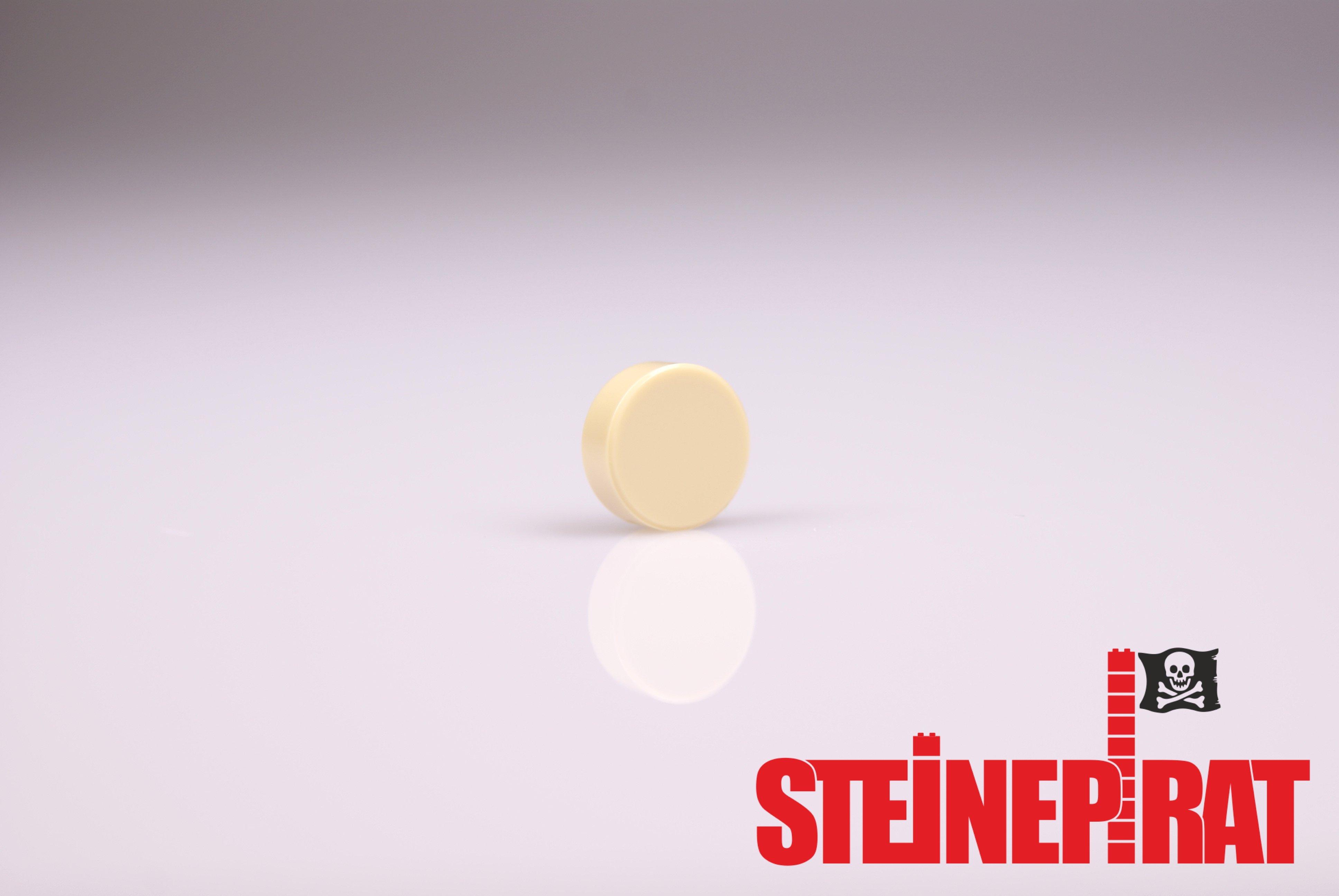 Platten hellgrau Kacheln LEGO®  runde 1x1 Knopf Fliesen 100 Stück