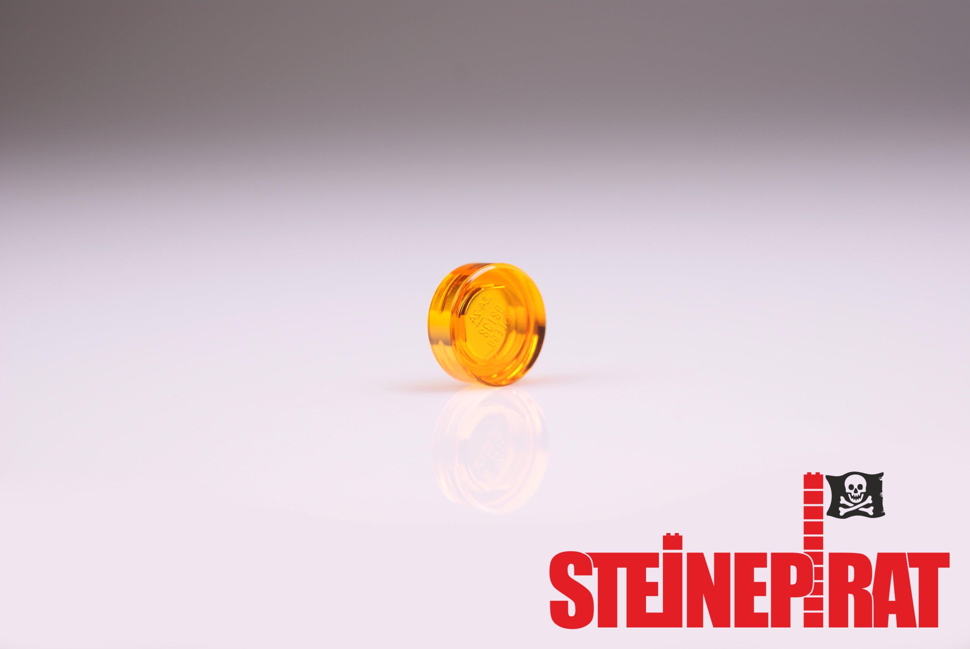 30x LEGO® Fliese//Kachel 1x1 rund 98138 NEU transparent rot